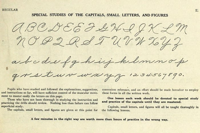 palmer method alphabet instructions