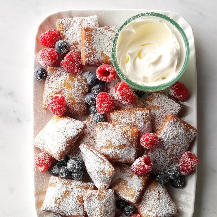 Springtime Beignets with Berries