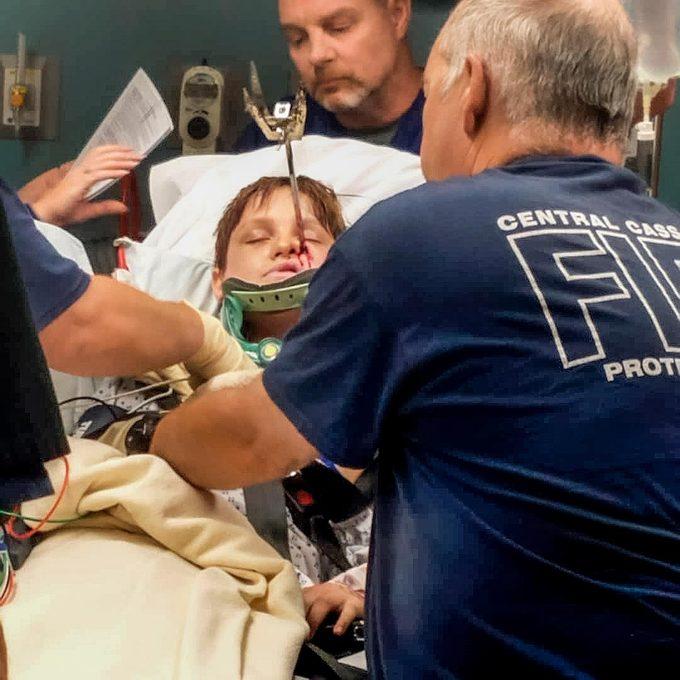 Xavier in the emergency room