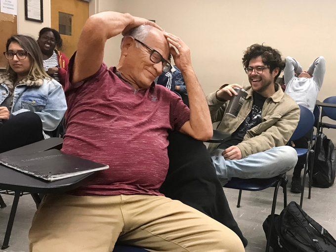 Valencia in class at Cal State LA