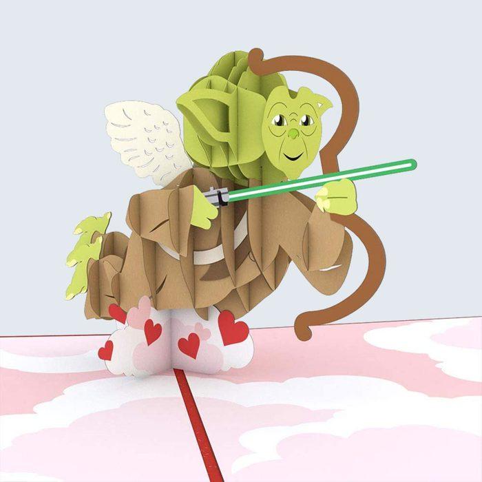 For the Star Wars fan: Lovepop Yoda Cupid Pop-Up Card