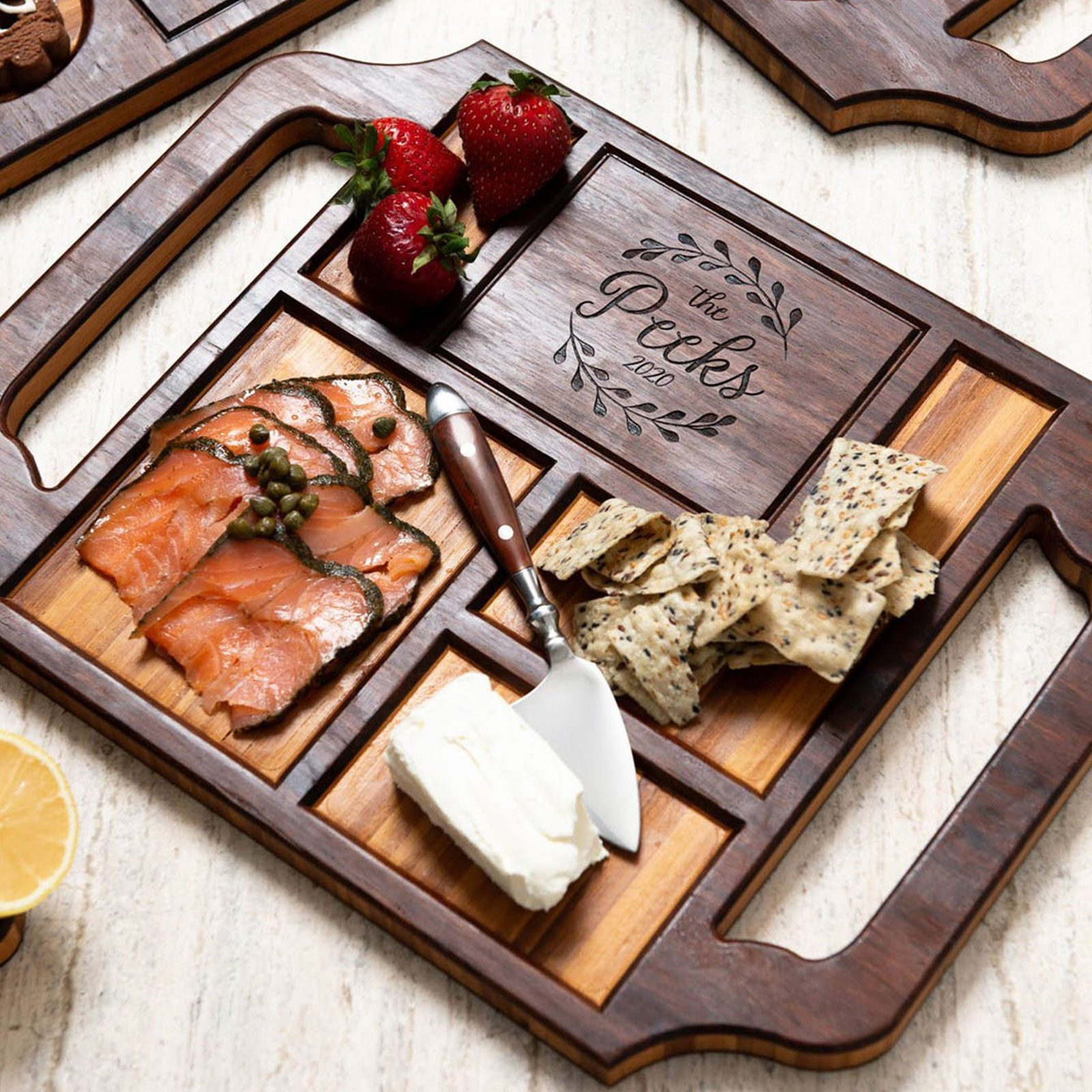 For the gourmand: Left Coast Originals Personalized Charcuterie Board