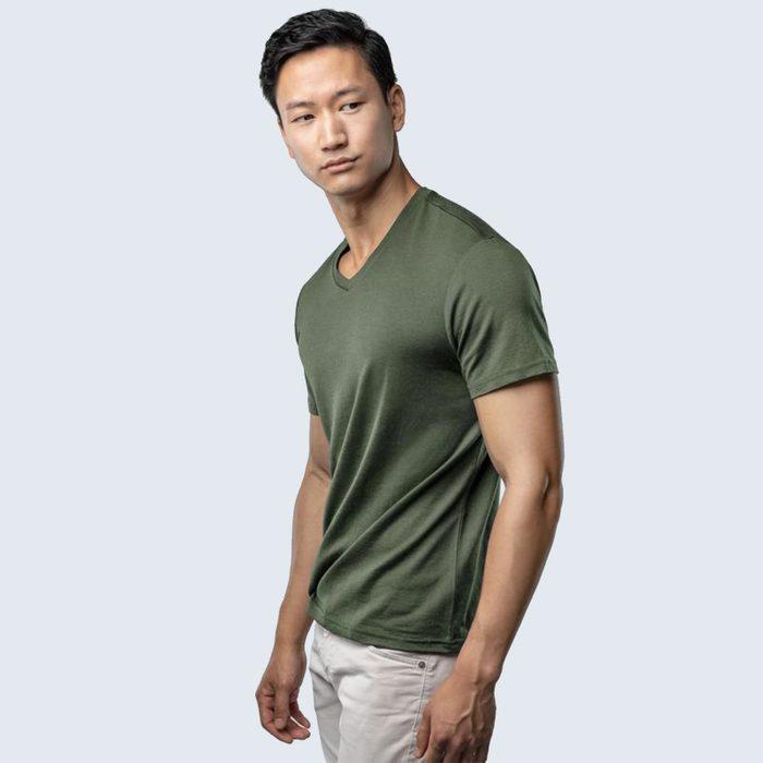 For the minimalist: Unbound Merino V-Neck Shirt