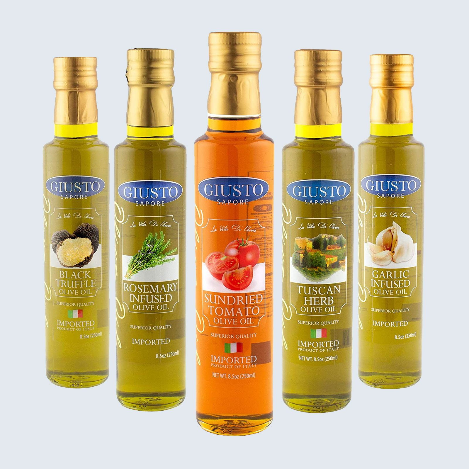 For the home chef: Giusto Sapore Infused Olive Oil Set