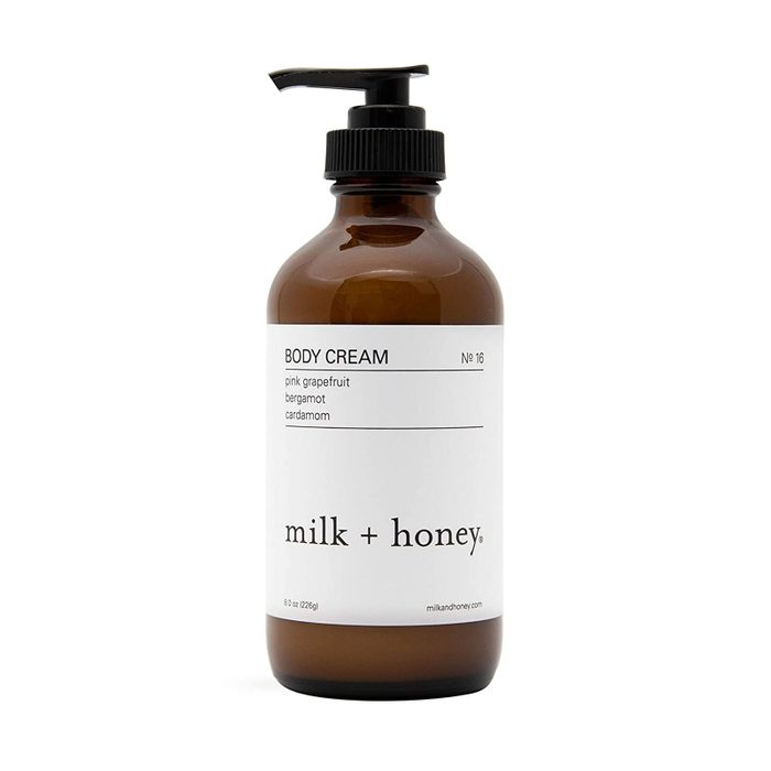 For the fan of organic skin care: Milk + Honey Body Cream
