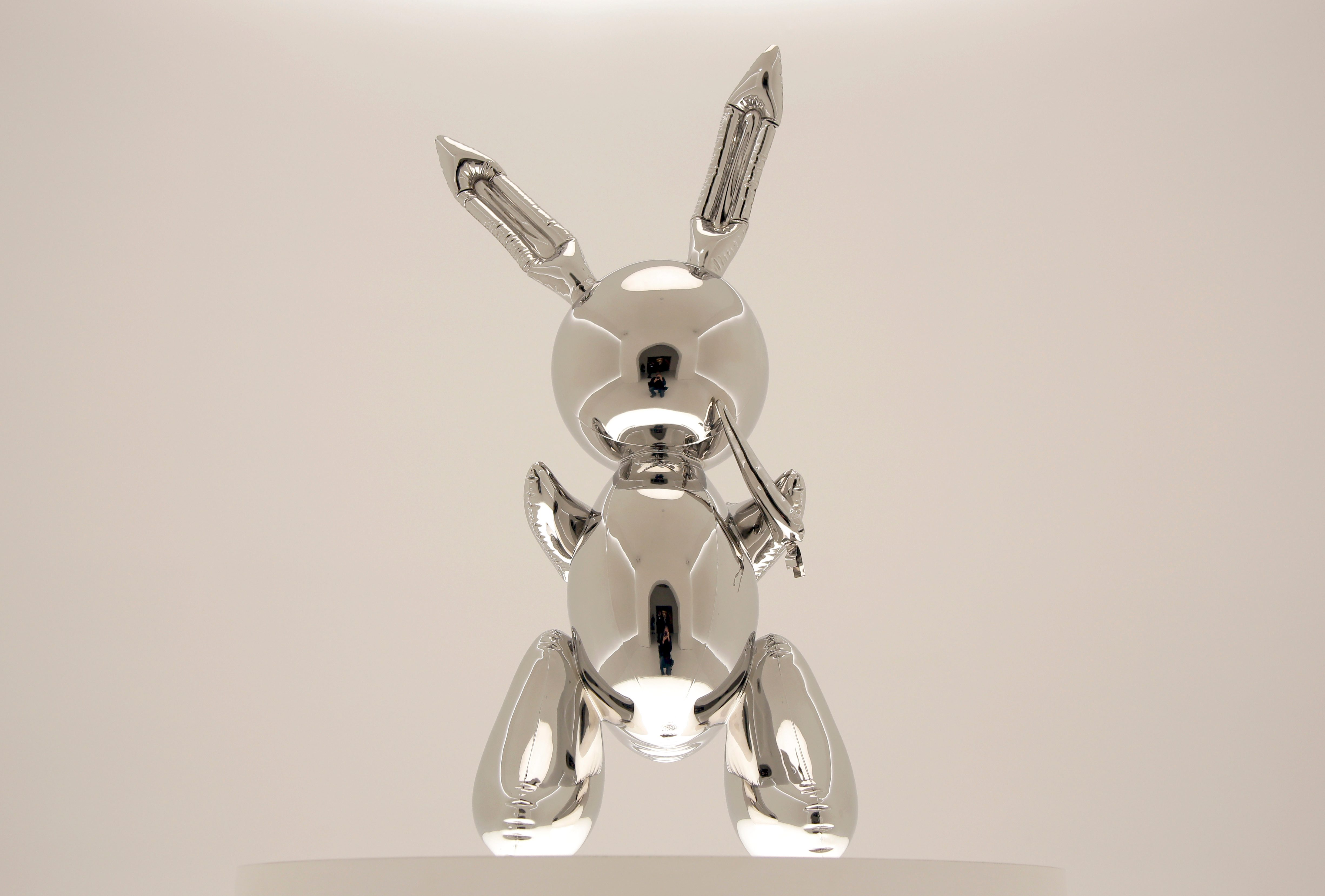 "Mandatory Credit: Photo by Seth Wenig/AP/Shutterstock (10227515c) Rabbit"" by Jeff Koons is displayed during a media preview at Christie's in New York, . This sculpture along with other artworks will be sold in series of auctions starting on May 13, 2019 Auction Jeff Koons, New York, USA - 03 May 2019"