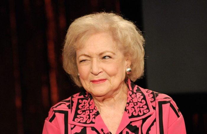 Betty White winking June 11, 2009