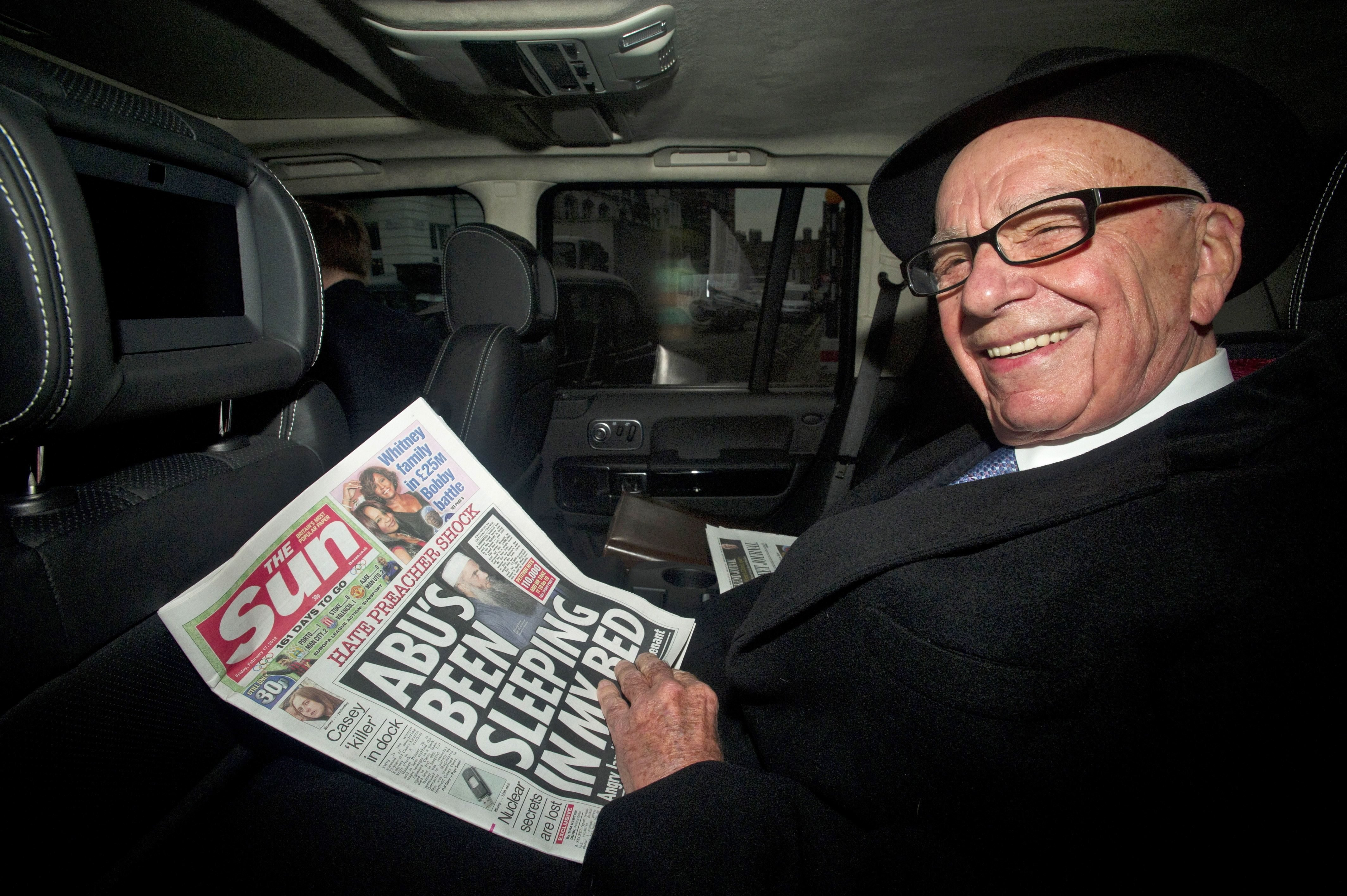 Mandatory Credit: Photo by Facundo Arrizabalaga/EPA/Shutterstock (7663478b) News Corp Chairman Rupert Murdoch Leaves His House in London Britain 17 February 2012 the 80-year-old Tycoon is to Address Staff at the Tabloid Sun Newspaper Following the Arrest of Five Senior Journalists in Connection with Corruption Allegations in an Initial Response to the Arrests Murdoch Dismissed Fresh Speculation Over the Future of the Sun a Tabloid with a Daily Circulation of 2 7 Million United Kingdom London Britain Media Murdoch - Feb 2012