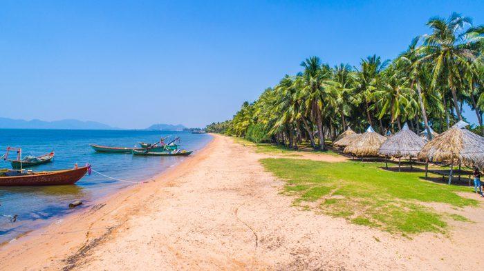 Angkol Beach at Kampot province, Kingdom of Cambodia
