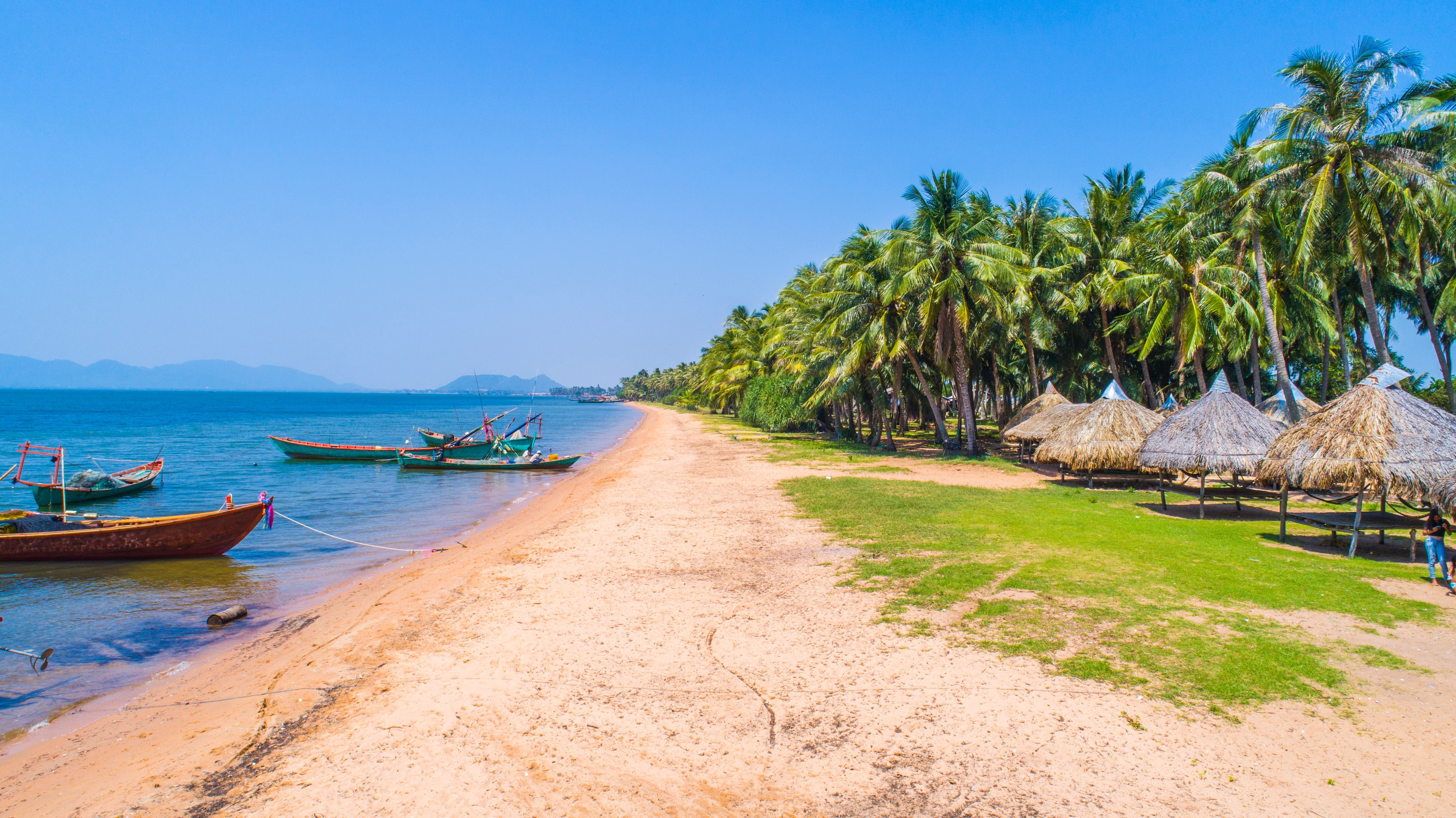 Angkol Beach at Kampot province, Kingdom of Cambodia