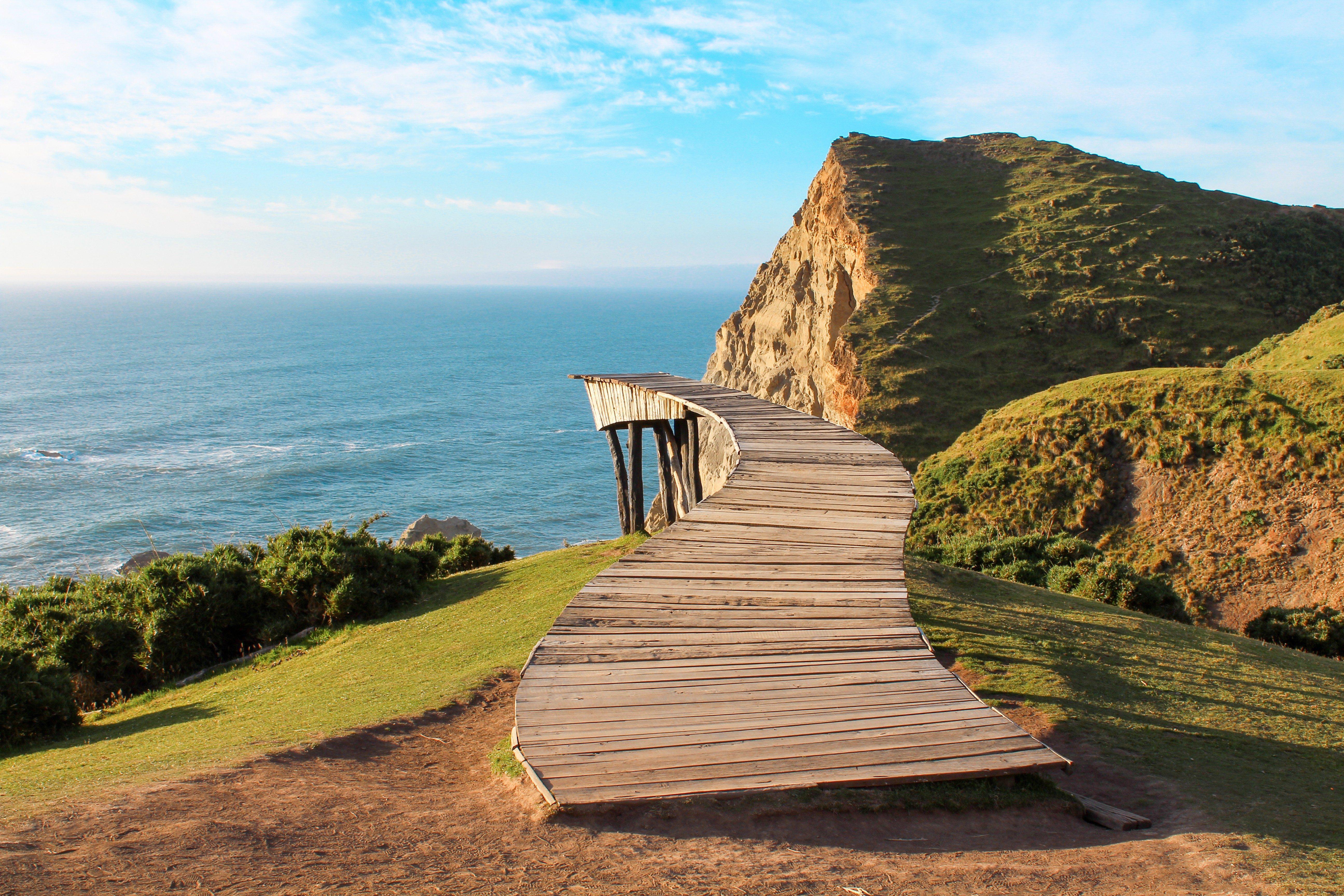 Muelle de las Almas. Chiloe tourist landscape