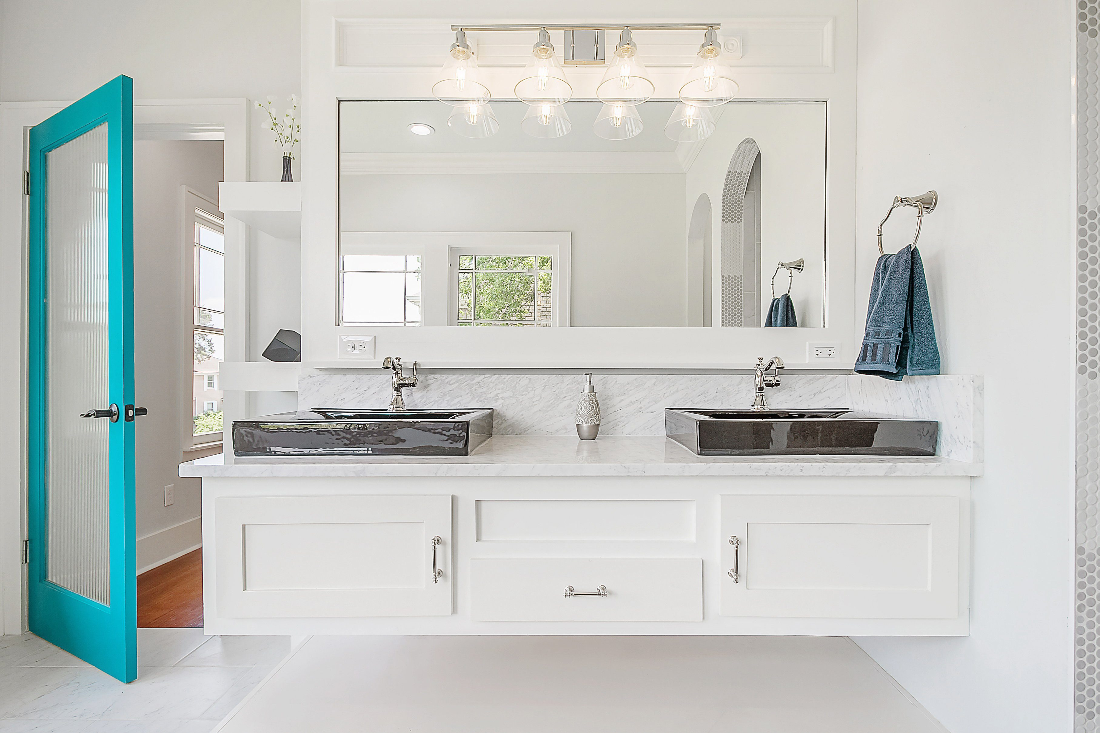Luxury Bathroom Updated Remodeled White Beautiful