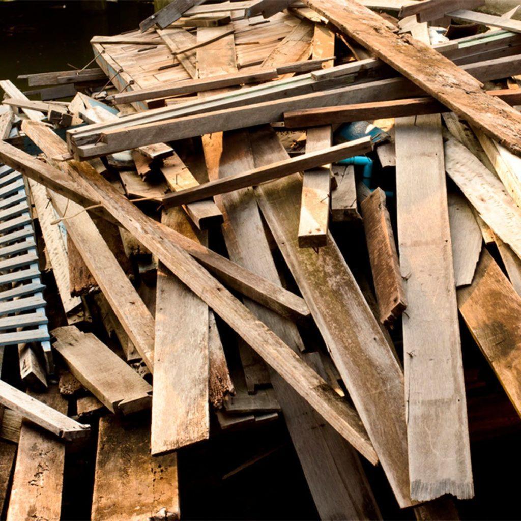 raw reclaimed wood