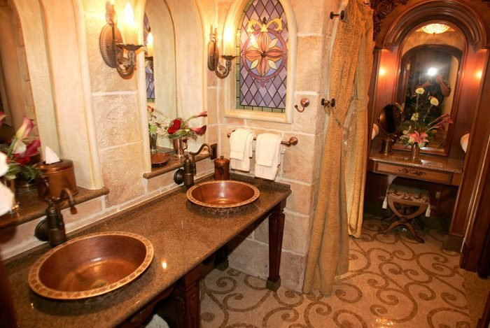 """Mandatory Credit: Photo by Reinhold Matay/AP/Shutterstock (6378753d) Disney What's New Views of the private Cinderella luxury suite at the top of Cinderella's Castle at Walt Disney World's Magic Kingdom in Lake Buena Vista, Fla. are seen on Friday, Jan. 26,2006. A night's stay at the castle was one of prizes given randomly to unsuspecting park guests recently as part of the launch of Disney's """"Year of a Million Dreams"""" campaign Disney What's New, Lake Buena Vista, USA"""