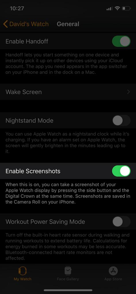 enable screenshots