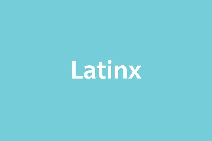 text Latinx on blue background