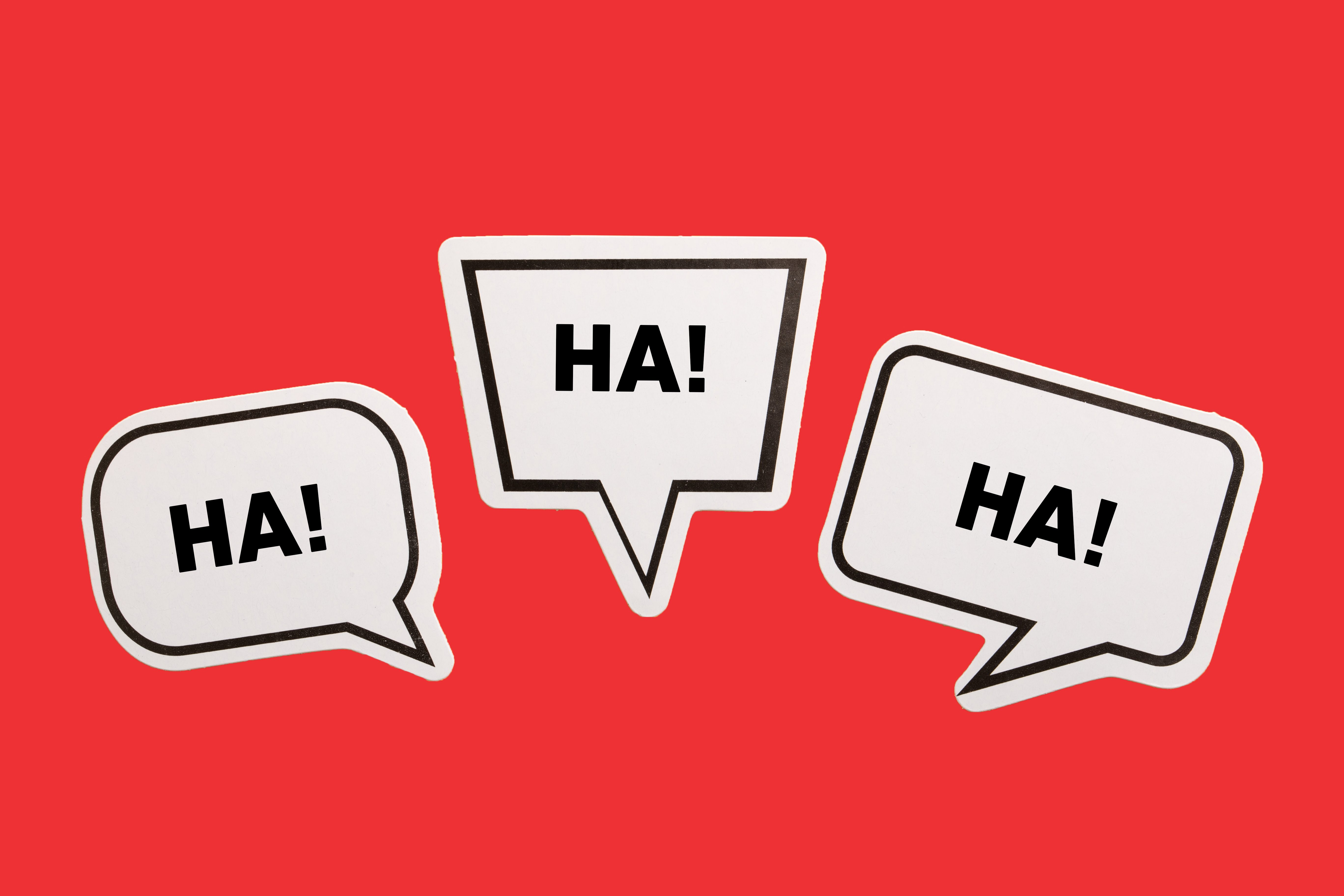 laughing speech bubbles