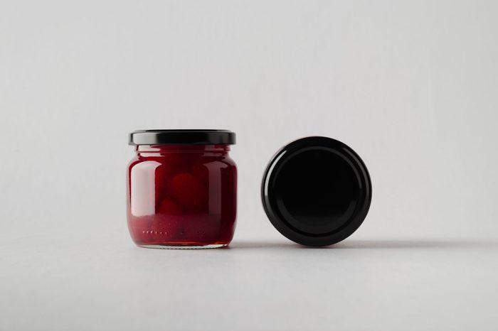 Strawberry Jam Jar Mock-Up - Two Jars