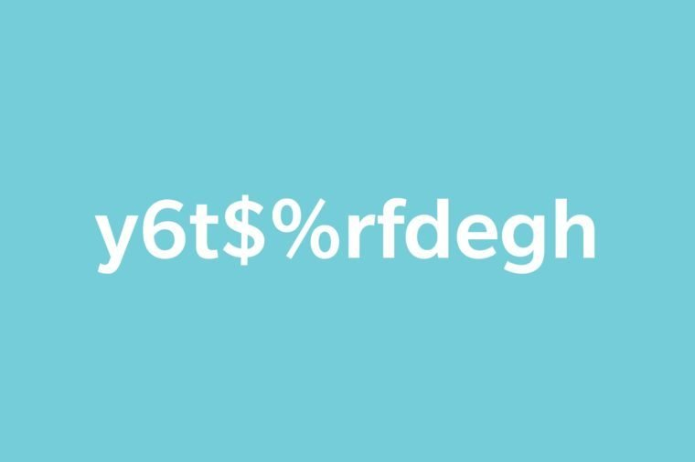 text y6t$%rfdegh on blue background