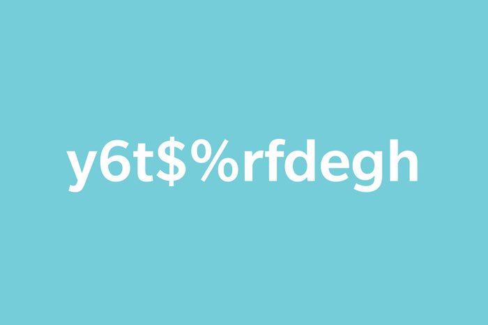 text y6t$%rfdegh on blue background