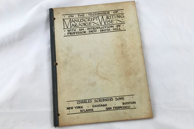 manuscript writing instructions book