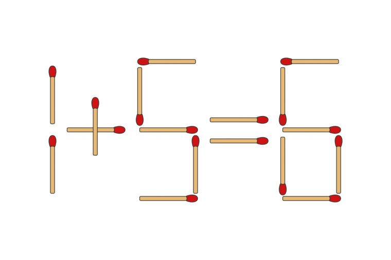 math with matches solution illustration
