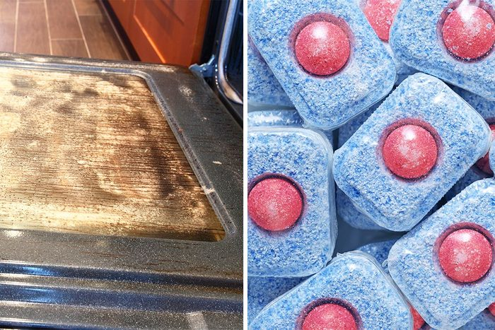 dishwasher tablets clean oven