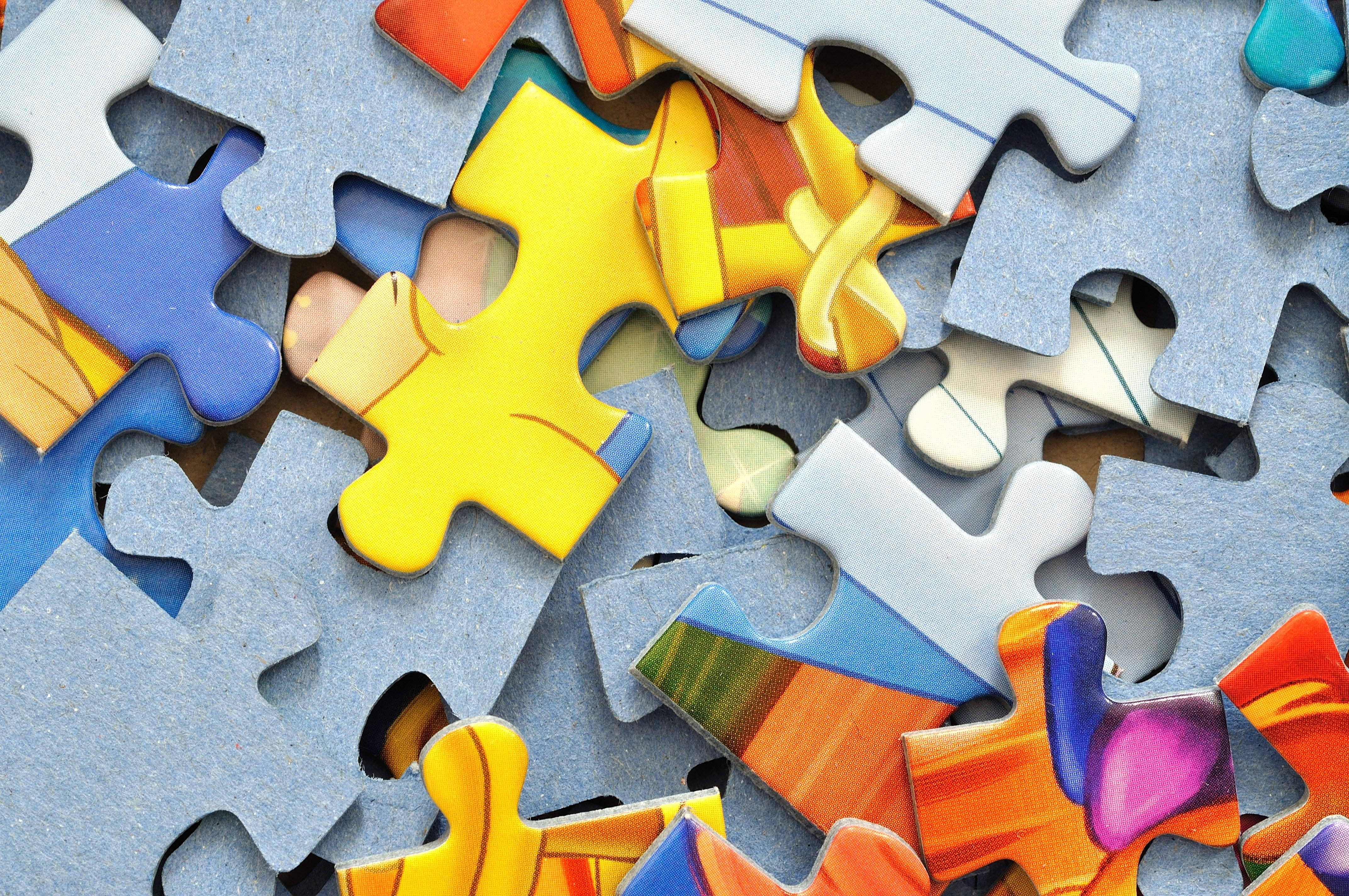 Puzzle colorful background