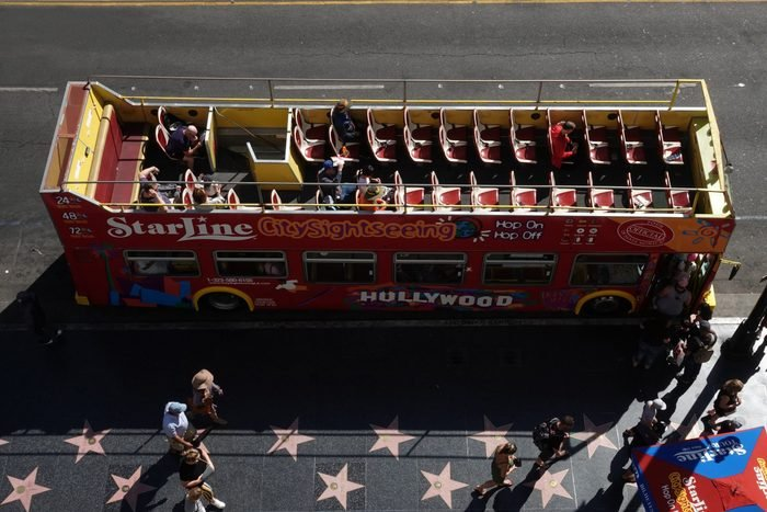 hollywood tour bus