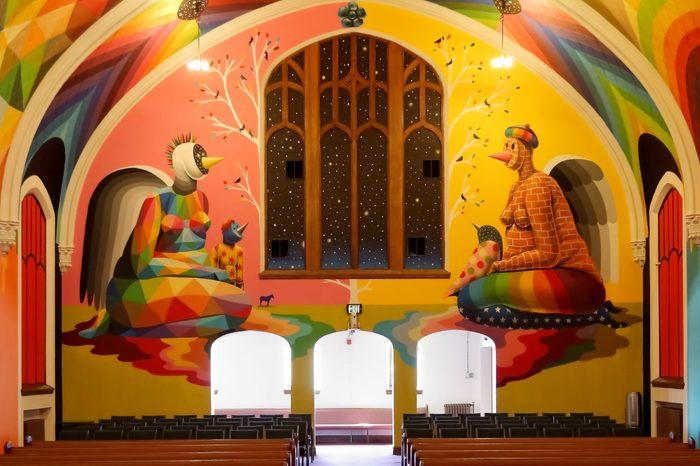 Denver, Colorado - February 24, 2019: The International Church of Cannabis, home church for Elevationism, a new religion.