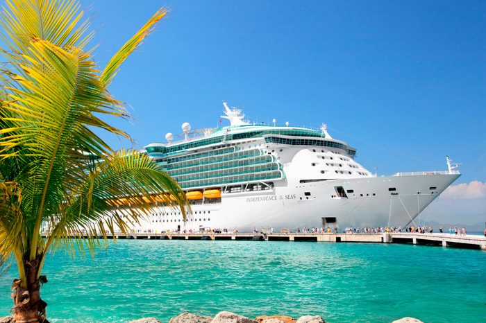 Royal Caribbean cruise ship Independence of the Seas docked at the private port of Labadee in the Caribbean Island of Haiti on February 26, 2013.
