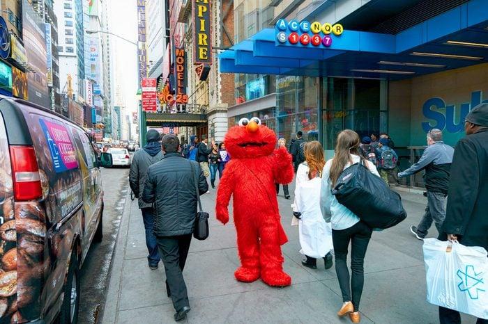 NEW YORK CITY, MANHATTAN, OCT,25, 2013. Elmo in Times Square