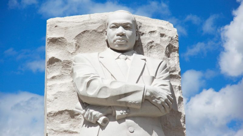 Martin Luther King Jr memorial in washington d.c. on a sunny day