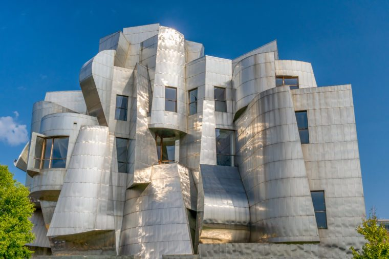 MINNEAPOLIS, MN/USA - SEPTEMBER 10, 2017: Frederick R. Weisman Art Museum on the campus of the University of Minnesota.