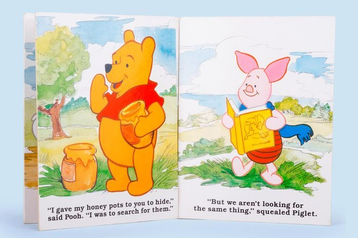 winnie the pooh and piglet in a book