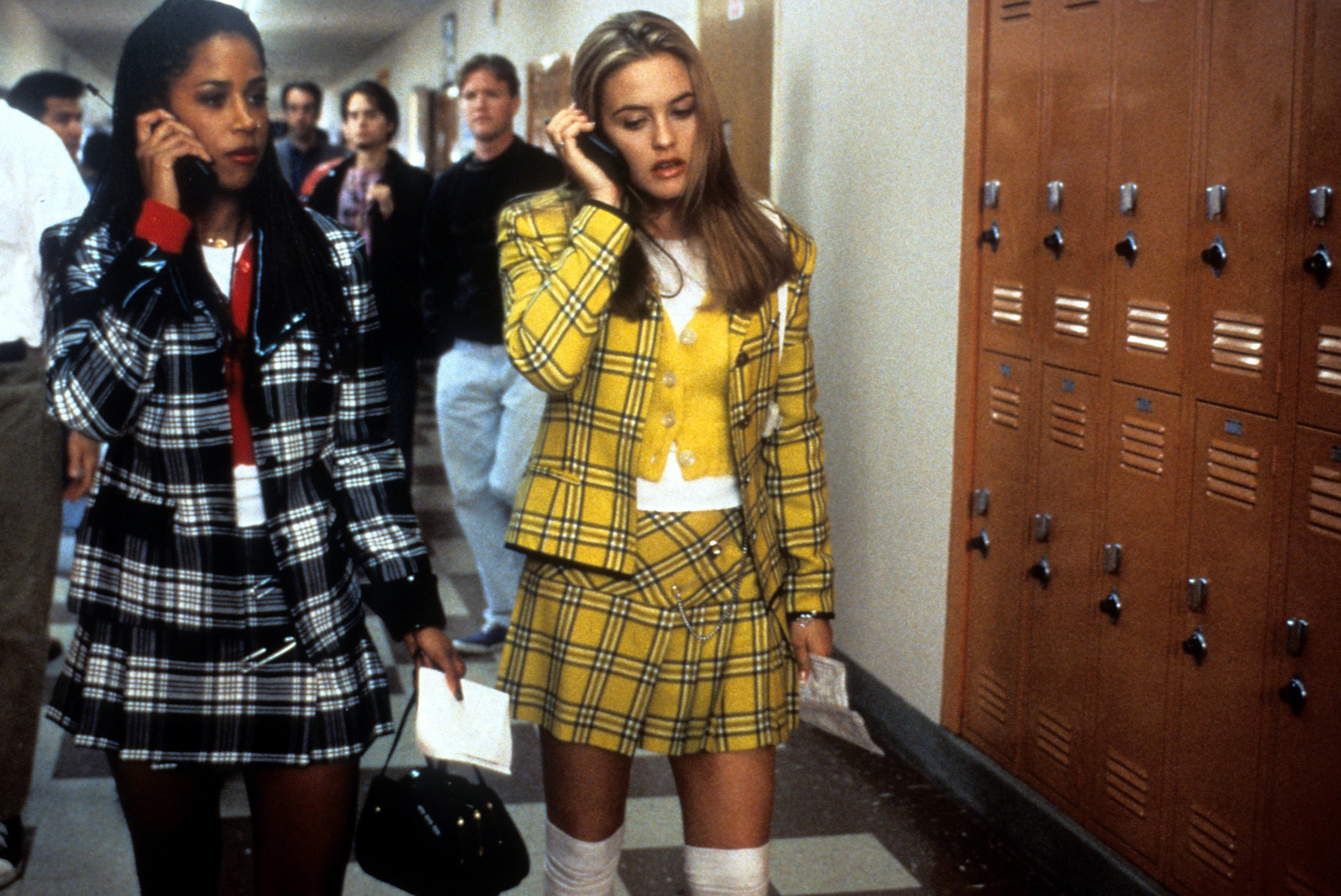 Clueless movie fashion Stacey Dash and Alicia Silverstone1995