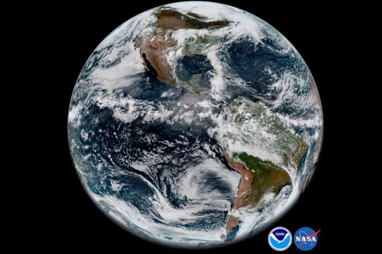 Earth's western hemisphere NASA photo