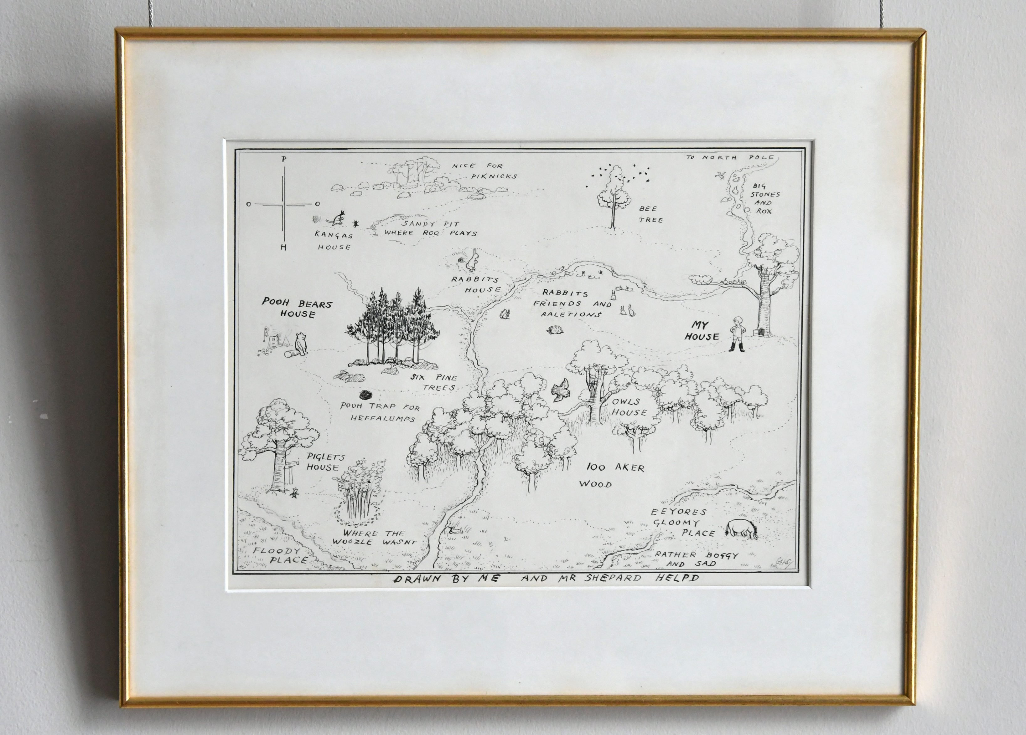 Mandatory Credit: Photo by Nils Jorgensen/Shutterstock (9697505l) Original Map of Winnie-the-Pooh's Hundred Acre Wood, by E.H. Shepard. Estimate £100,000-150,000 Winnie-the-Pooh illustration auction photocall, London, UK - 31 May 2018 The original map of Winnie-the-pooh's Hundred Acre Wood by E.H. Shepard, unseen for half a century, is unveiled alongside four long-hidden illustrations from the iconic book, ahead of the sale on July 10, at Sotheby's, London