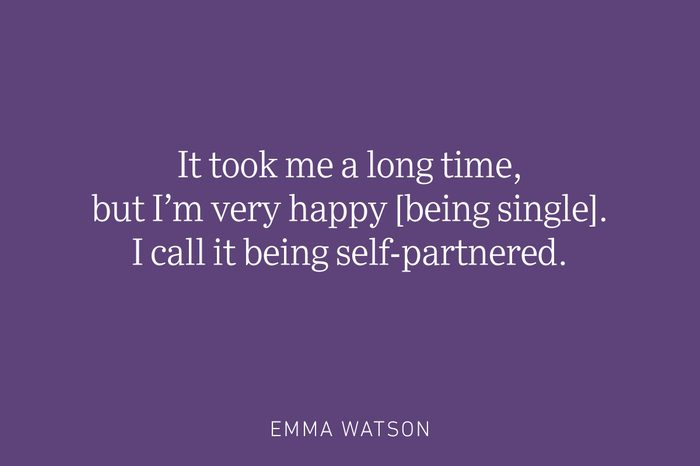 emma watson being single quote
