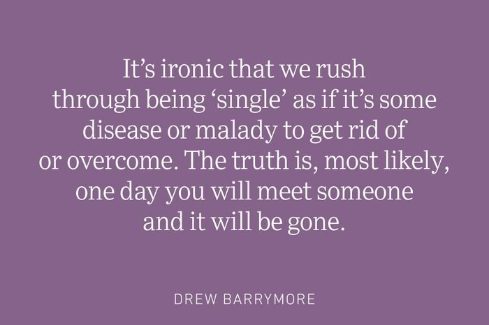 drew barrymore being single quote