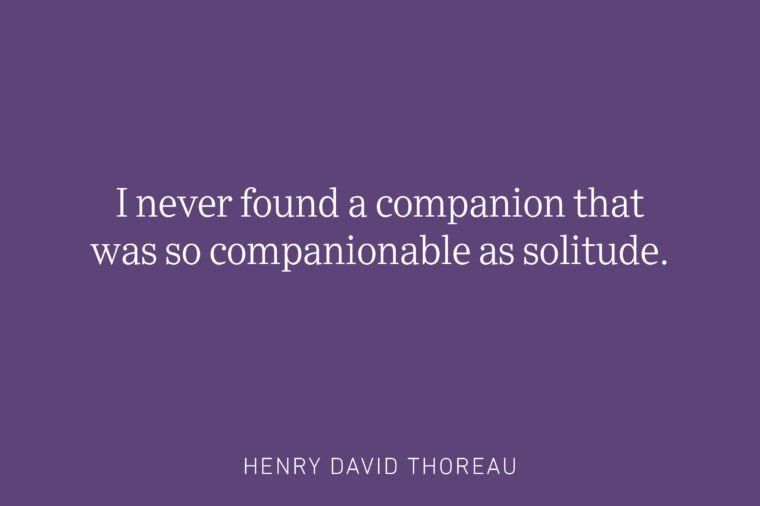 henry david thoreau being single quote