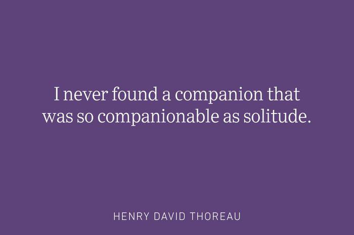 henry david thoreau being single quote