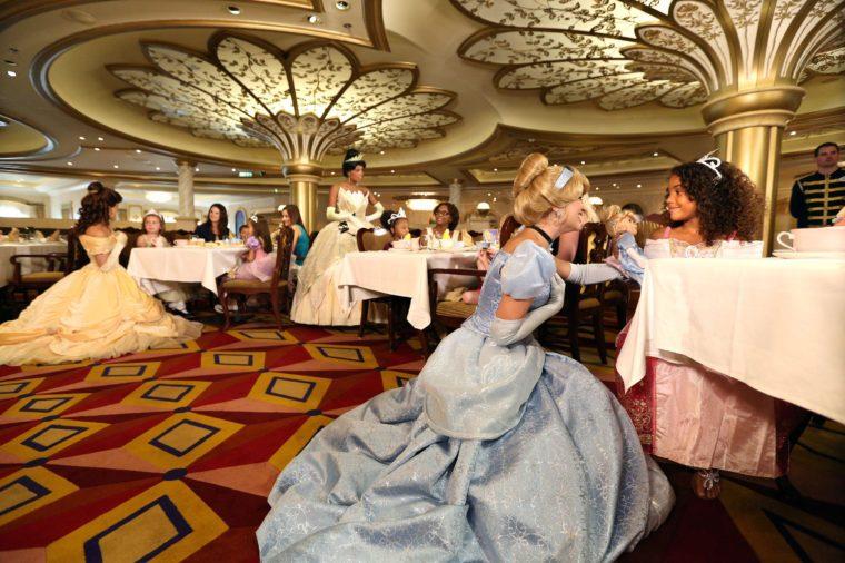 disney princess dining room dinner disney cruise line