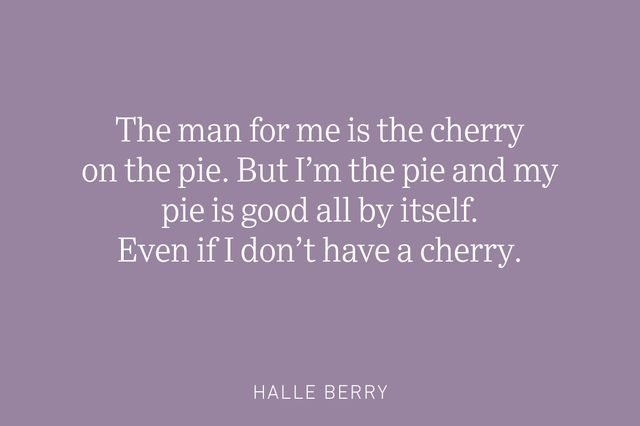 halle berry being single quote