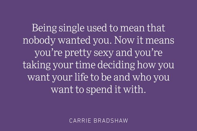 carrie bradshaw being single quote