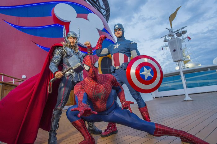 marvel characters disney cruise line