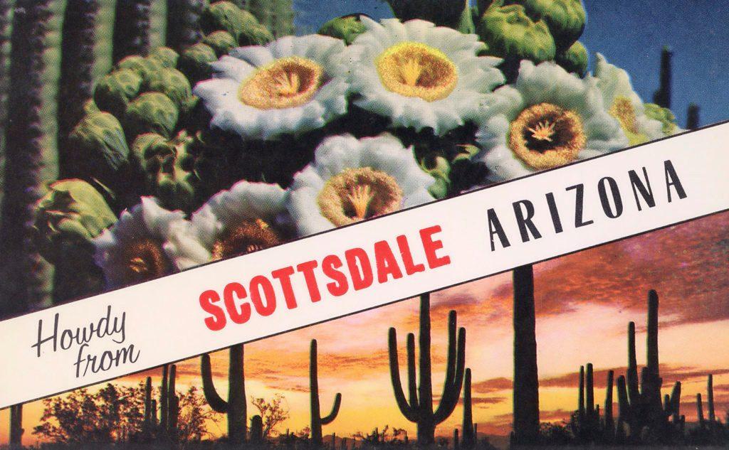 vintage postcard arizona