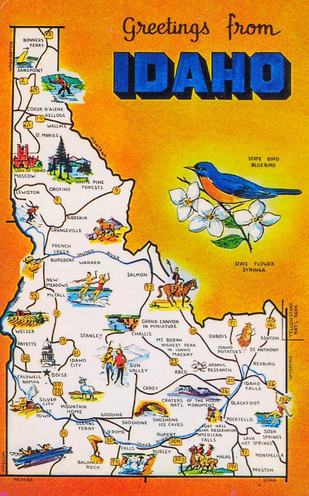 vintage postcard idaho