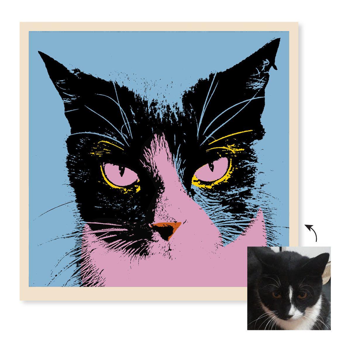 customized cat art