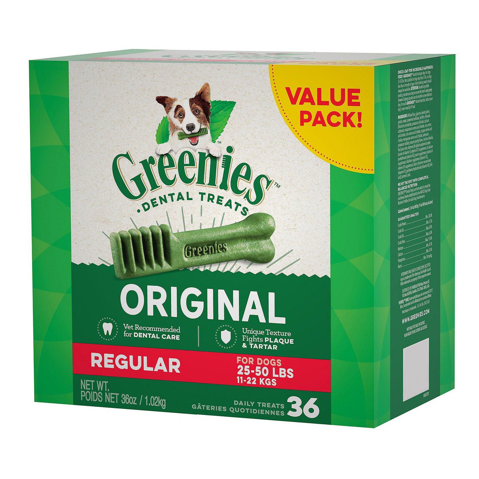 greenies dog dental treats